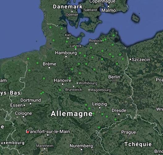 Carte stations allemandes